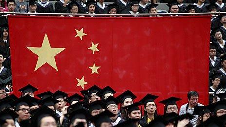 Graduandos en China