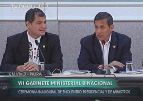 Video - Presidentes de Perú y Ecuador encabezan VII reunión de Gabinete Binacional