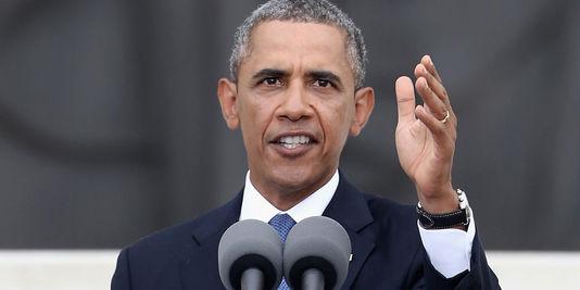 Barack Obama, lors de la commémoration des 50 ans du discours